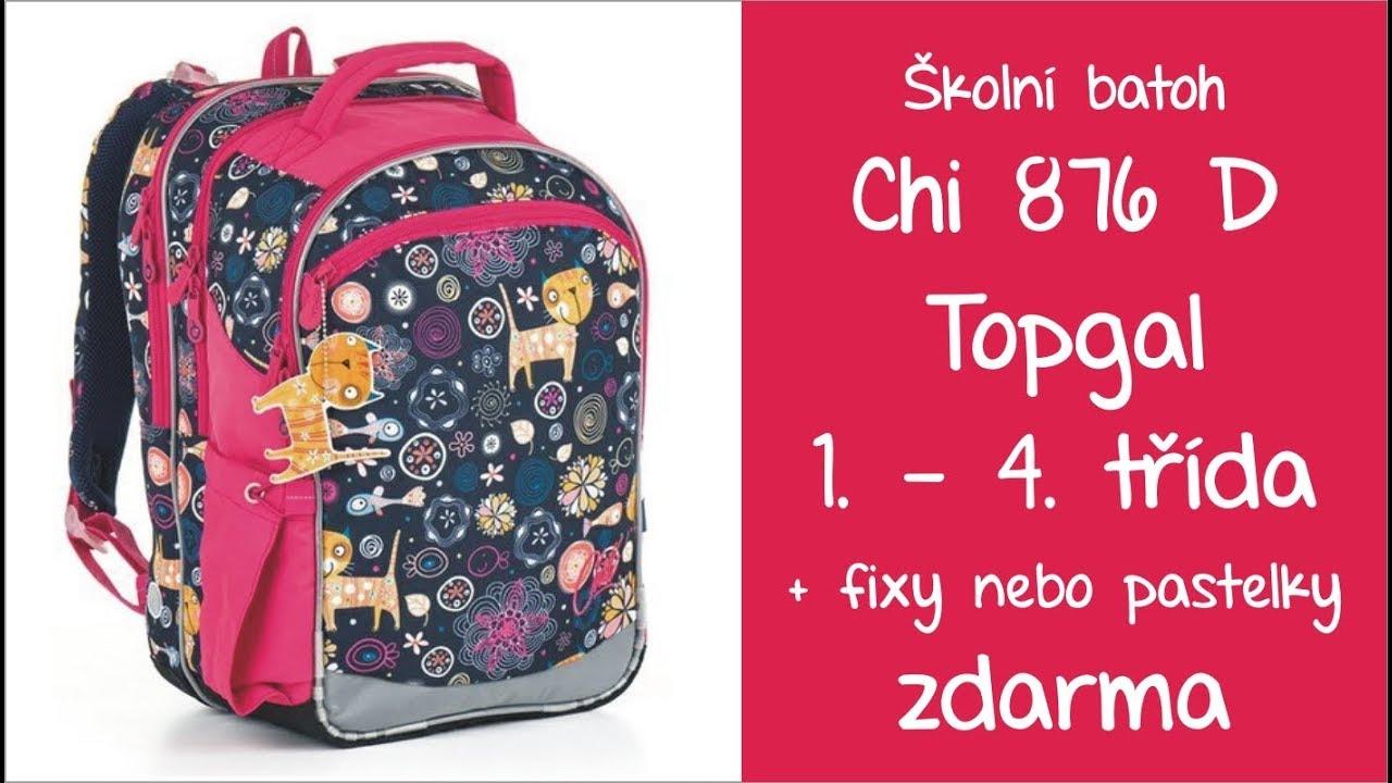 7e0cd2c9d8b CHI 876 D Topgal školní batoh dívčí pro 1. - 4. třídu - YouTube