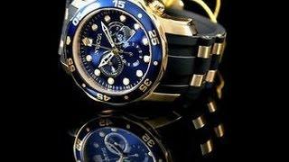 Invicta Watches - 3 Great Invicta Pro Diver Analog Display Swiss Quartz Black Watches for Men