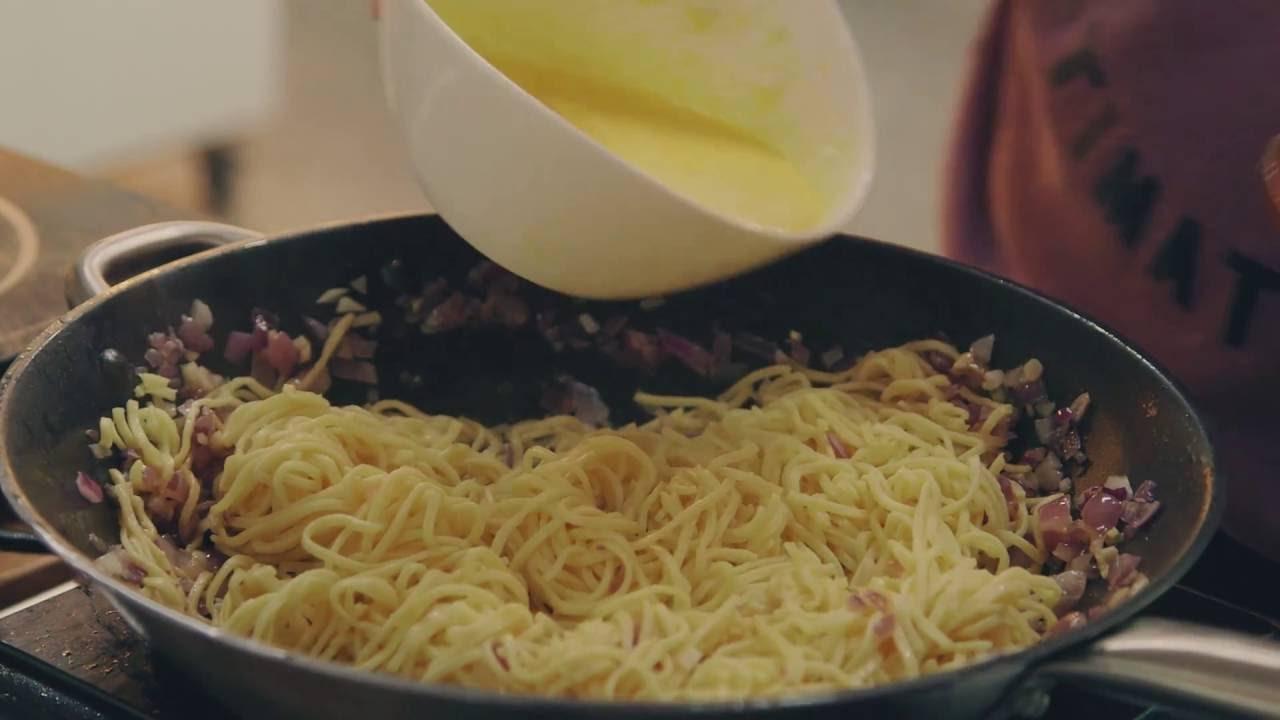 Opskrift Spaghetti Carbonara Youtube