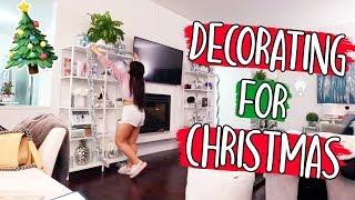 DECORATING FOR CHRISTMAS!! Vlogmas Day 16