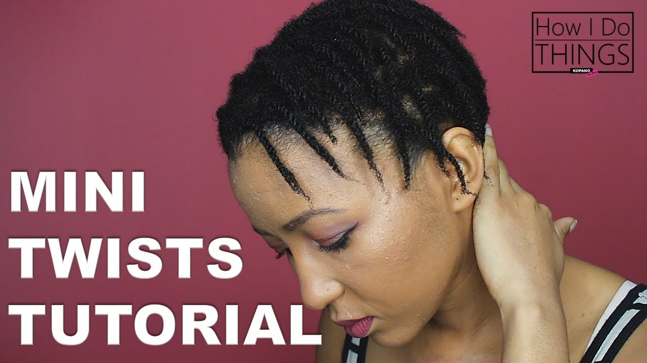 How To Do Mini Twists On Natural 4c Hair Giveaway Step By Step