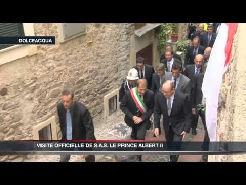 Visite officielle de SAS Le Prince Albert II à Dolceacqua