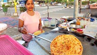 Maharaja  Paratha || Street Food of India || Husband Wife Selling Street Food