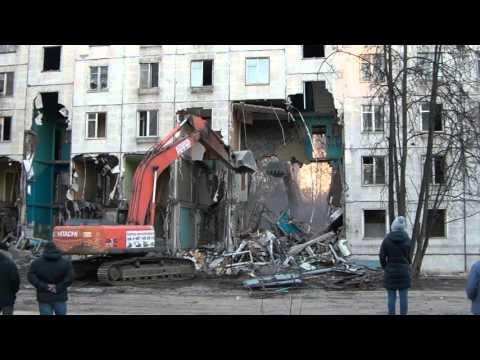 Снос пятиэтажки по адресу Москва, Беломорская ул.