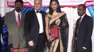 Abissheka receiving Youth Leadership Award- Tamil Mirror Gala Night 2012.