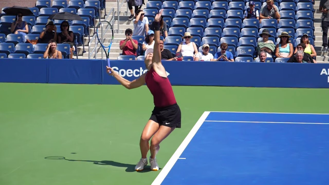 Maria Sharapova Serve Slow Motion Wta Tennis Serve Technique Youtube