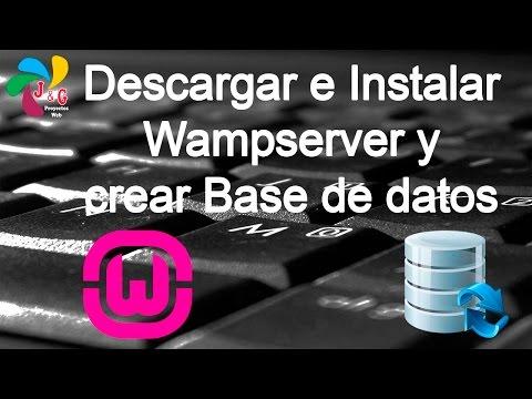 Descargar E Instalar Wampserver | Crear Base De Datos