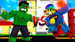 BECOMING THE STRONGEST HEROES AND FIGHTING! (Roblox Marvel VS DC)
