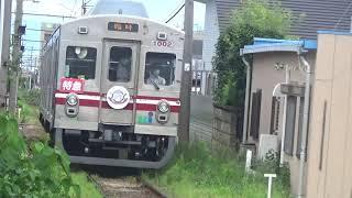 「1日限定のHMを付けた臨時の特急」1000形1001F 水間鉄道水間線 三ツ松駅 通過