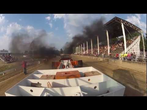 Street Diesel Class - Ottawa County Fair Pull - 7/25/2012