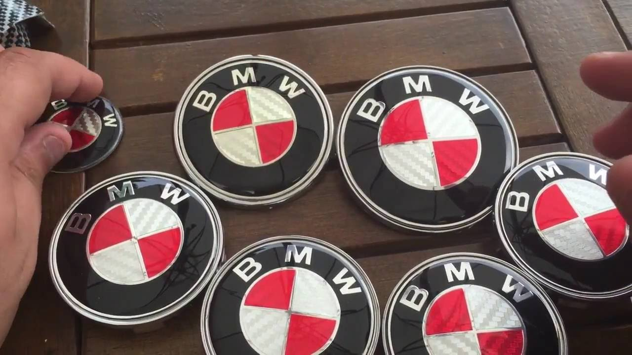 45 mm BMW Noir Blanc Volant Badge