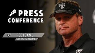 Coach Gruden Postgame Presser - 10.20.19 | Raiders