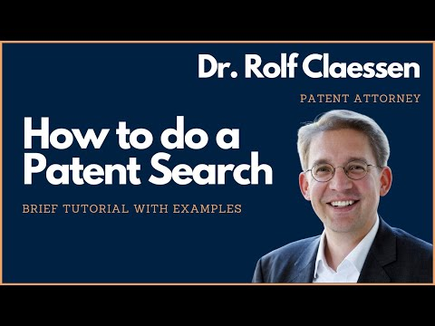 How to do a Patent Search? Brief Patent Search Tutorial - #r