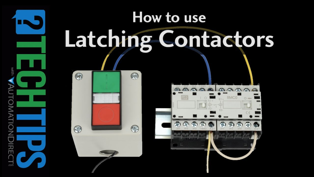 Tech Tip: How To Setup and Use Latching Contactors - YouTube Latching Lighting Contactor Wiring Diagram on 3 wire start stop diagram, 4 pole relay wiring diagram, light relay wire diagram, latching relay 24vdc, momentary switch wiring diagram, rib relay wiring diagram, light wiring diagram, latching relay circuit, latching relay with reset, 240 volt wiring diagram, 3 pole relay wiring diagram, furnas contactor diagram, photoelectric switch wiring diagram, latching mechanically held contactor, latching control diagram, simple relay switch wiring diagram, latching push button wire diagram, motor wiring diagram, latching lighting contactor, latching relay wiring diagram,
