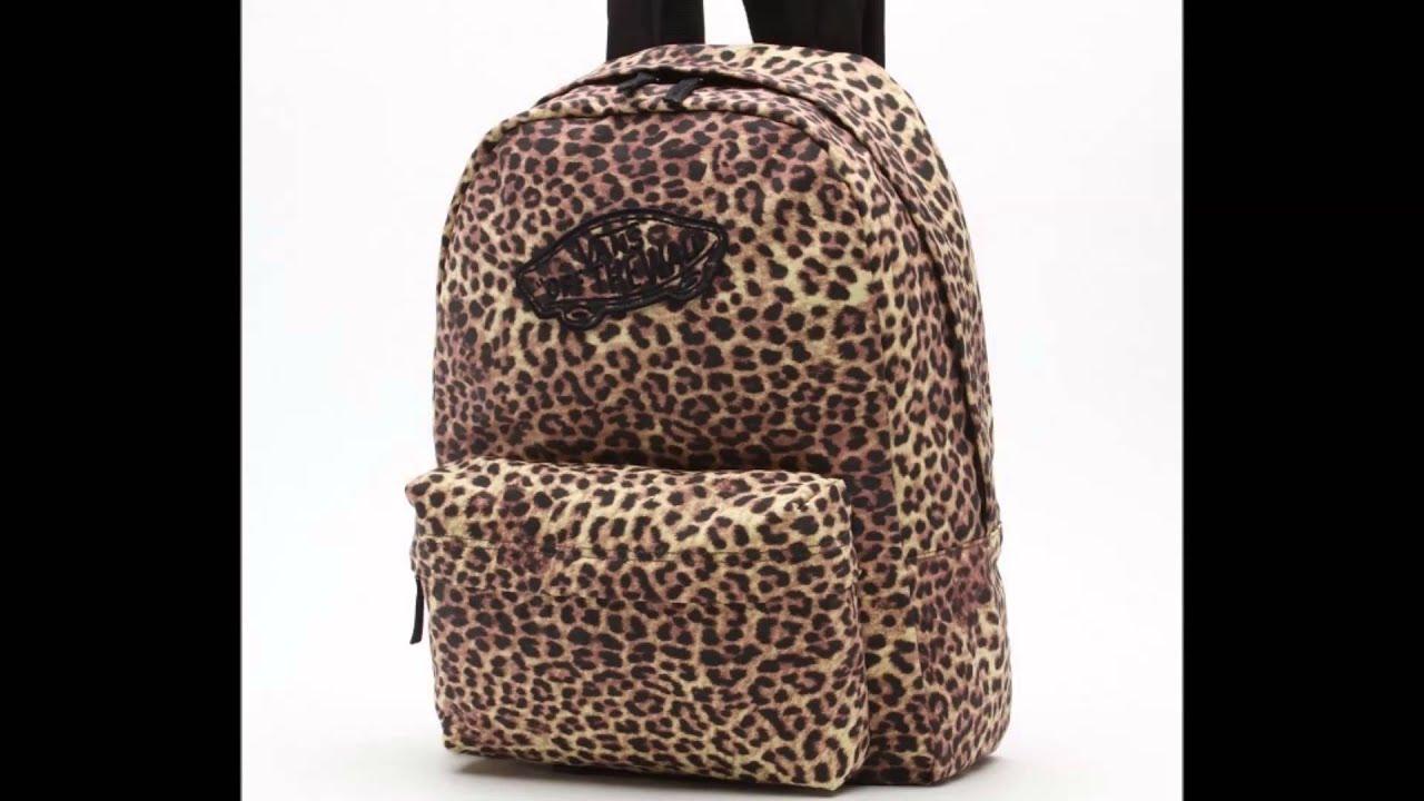 vans mochila leopardo