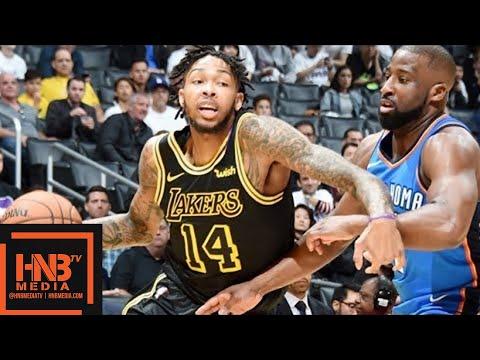 Oklahoma City Thunder vs Los Angeles Lakers 1st Half Highlights / Feb 8 / 2017-18 NBA Season