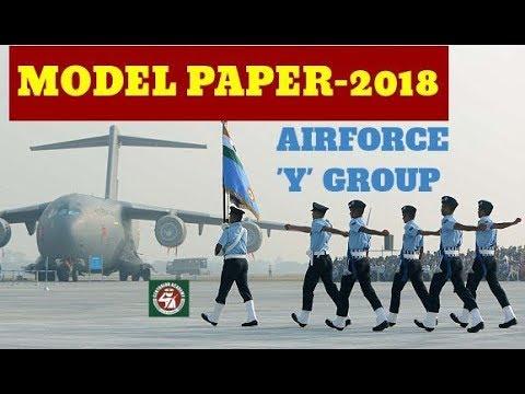 INDIAN AIRFORCE MODAL PAPER(GROUP Y )भारतीय वायु सेना ग्रुप 'Y' के लिए मॉडल पेपर