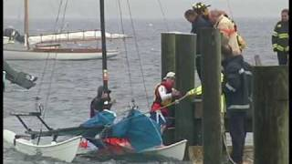 HYANNISPORT, MA- Two Rescued on Catamaran in Rough Seas and Weather (06-22-09)