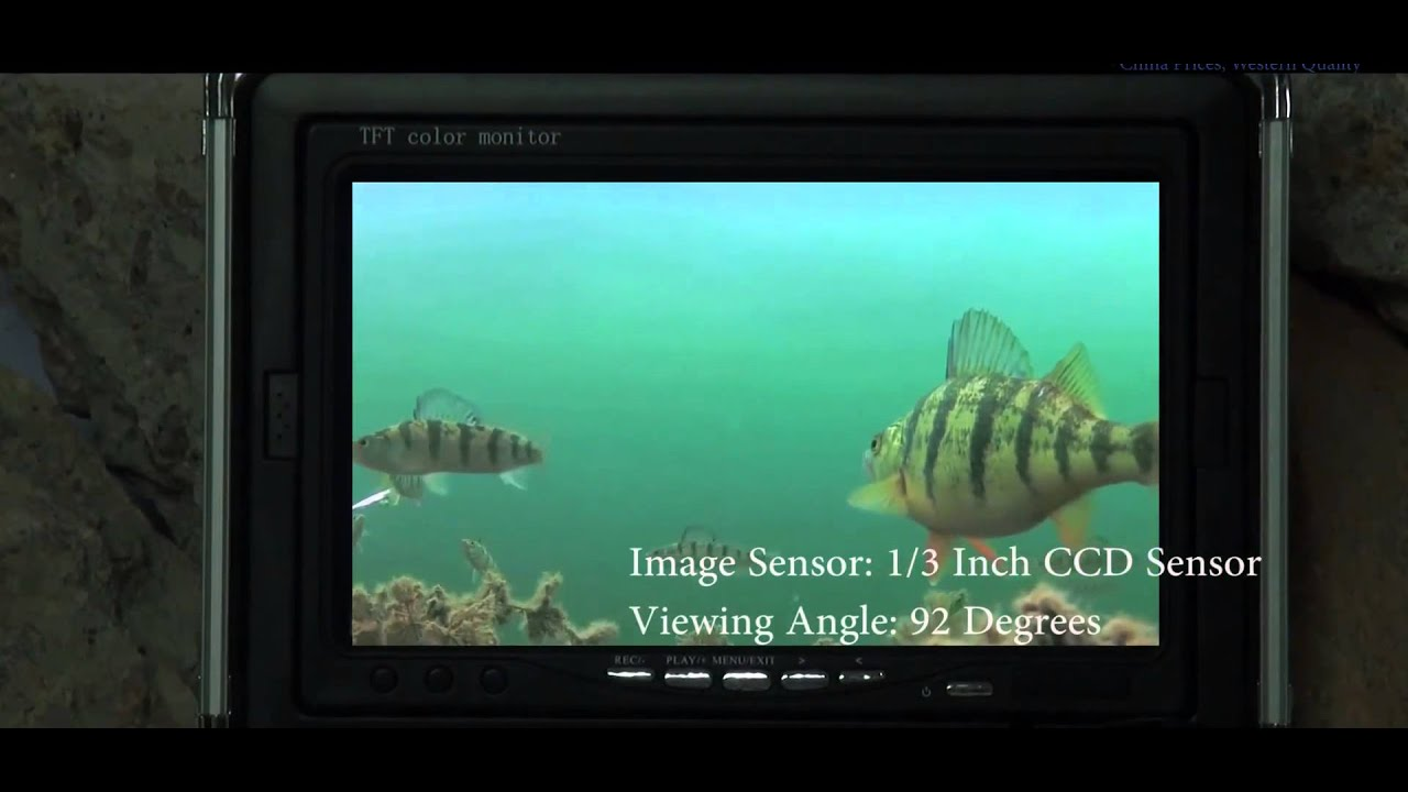 underwater fishing camera - 7 inch monitor, 50ft cable, hard, Reel Combo