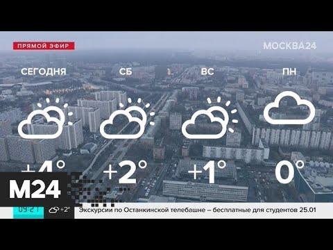 """""""Утро"""": теплая погода ожидается в Москве 17 января - Москва 24"""