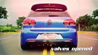 VW MK6 Golf R20 | Armytrix Système Echappement VALVETRONIC | moteurs sons & bruit!