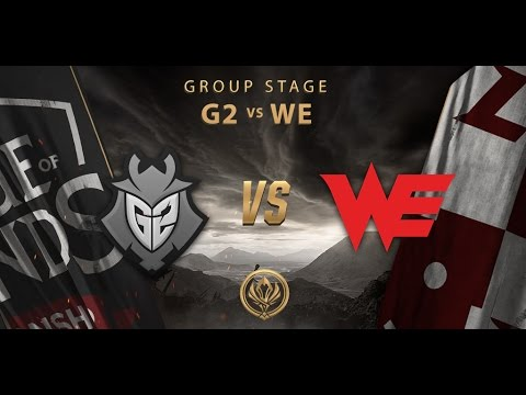 [12.05.2017] G2 vs WE [MSI 2017][Group Stage]