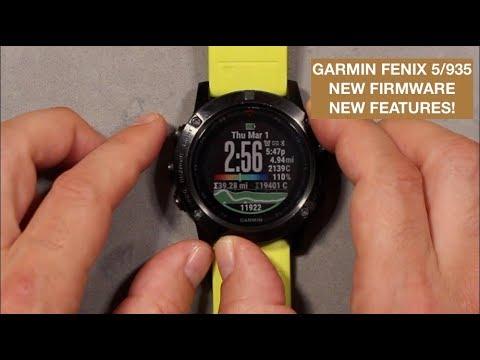 garmin fenix 5x plus software update 6.0