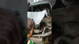 The car accident Multan Cantt video