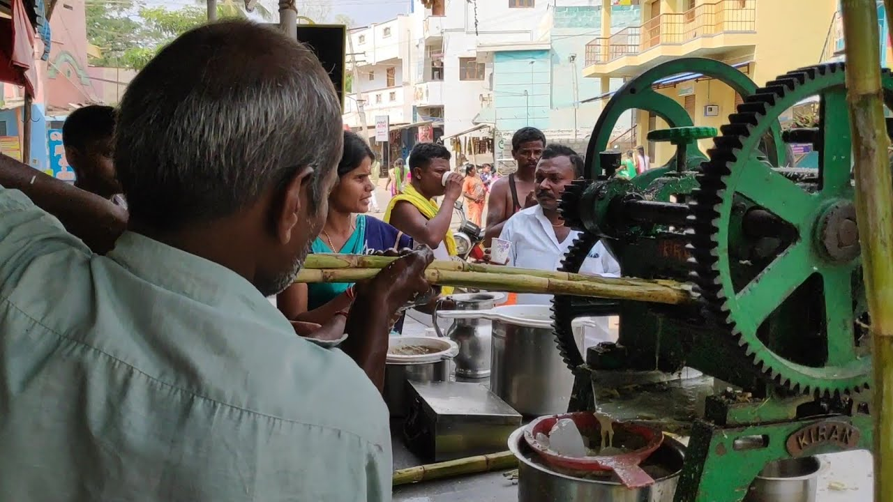 South Indian Street Foods   BEST Street Food in India /Sugar cane juice/ Summer Special Street Foods