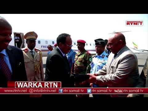 RTN TV: Madaxweyne Farmaajo oo siweyn loogu soodhoweeyay Djibouti