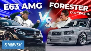 700 hp Mercedes vs Forester on Work Wheels | What's Better?!