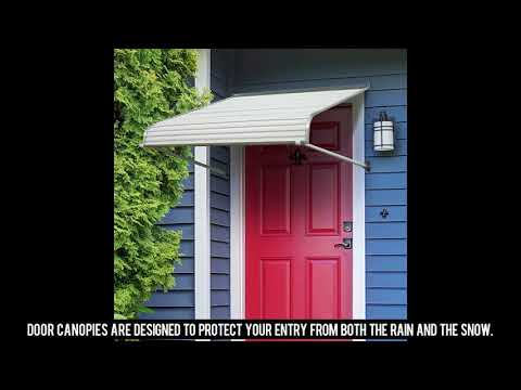 NuImage Awnings 48425 Aluminum Door Canopy with Support Arms
