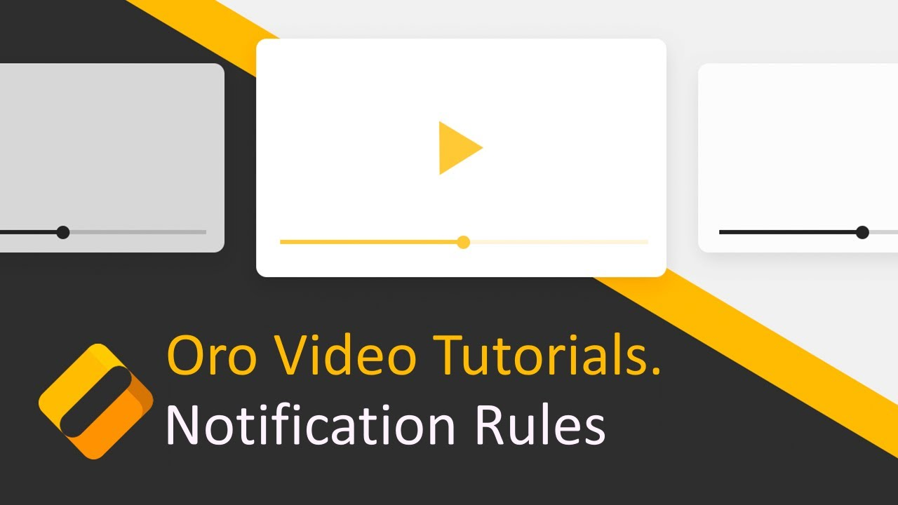 How to Create Notification Rules in OroCRM - YouTube