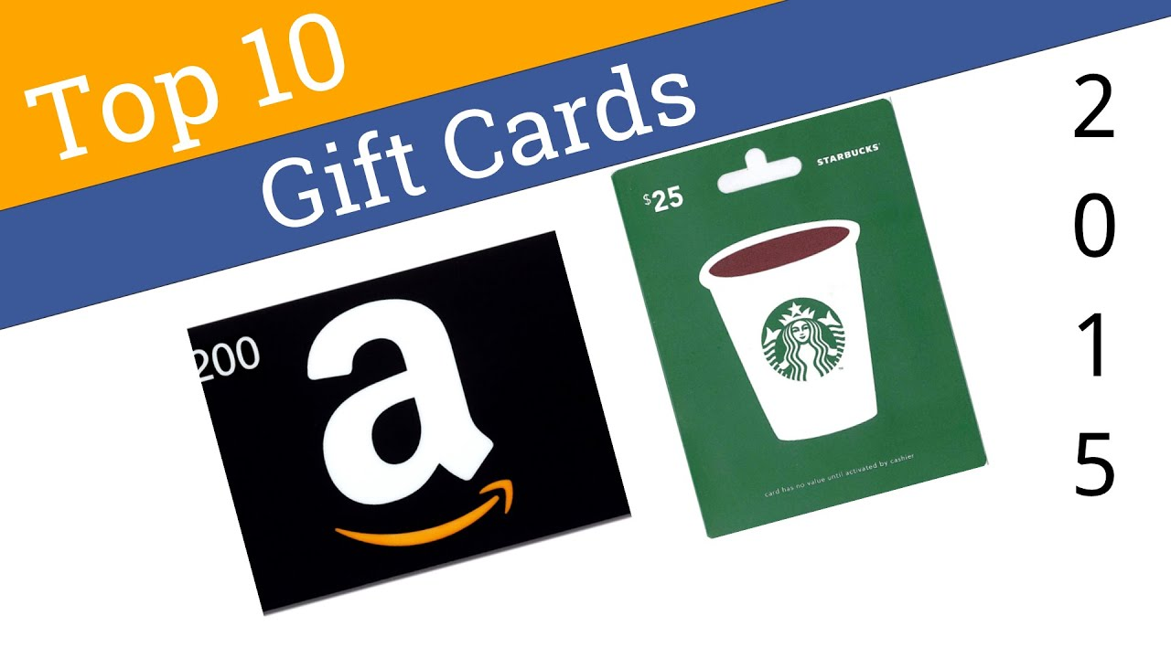 10 best gift cards 2015 youtube for Best cards of 2015