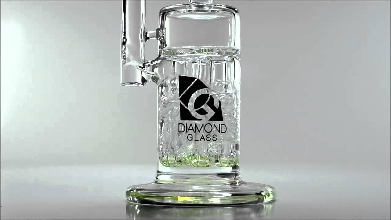 diamond four arm slyme bubbler badass glass - Diamond Glass Bong