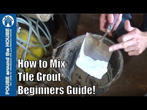 How to mix tile grout. Mixing grout made easy for beginners!