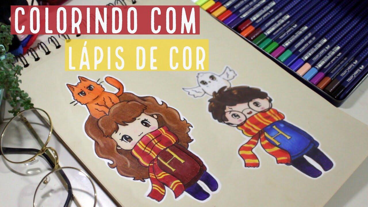 Desenha E Fala Harry Potter E Hermione Com Lapis De Cor Youtube