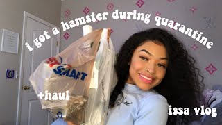 GETTING A HAMSTER VLOG...during quarantine