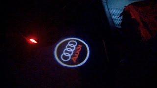 Подсветка двери с логотипом Audi (Тюнинг Ауди А6 С5)
