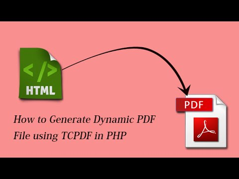 How to Generate Dynamic PDF File using TCPDF in PHP