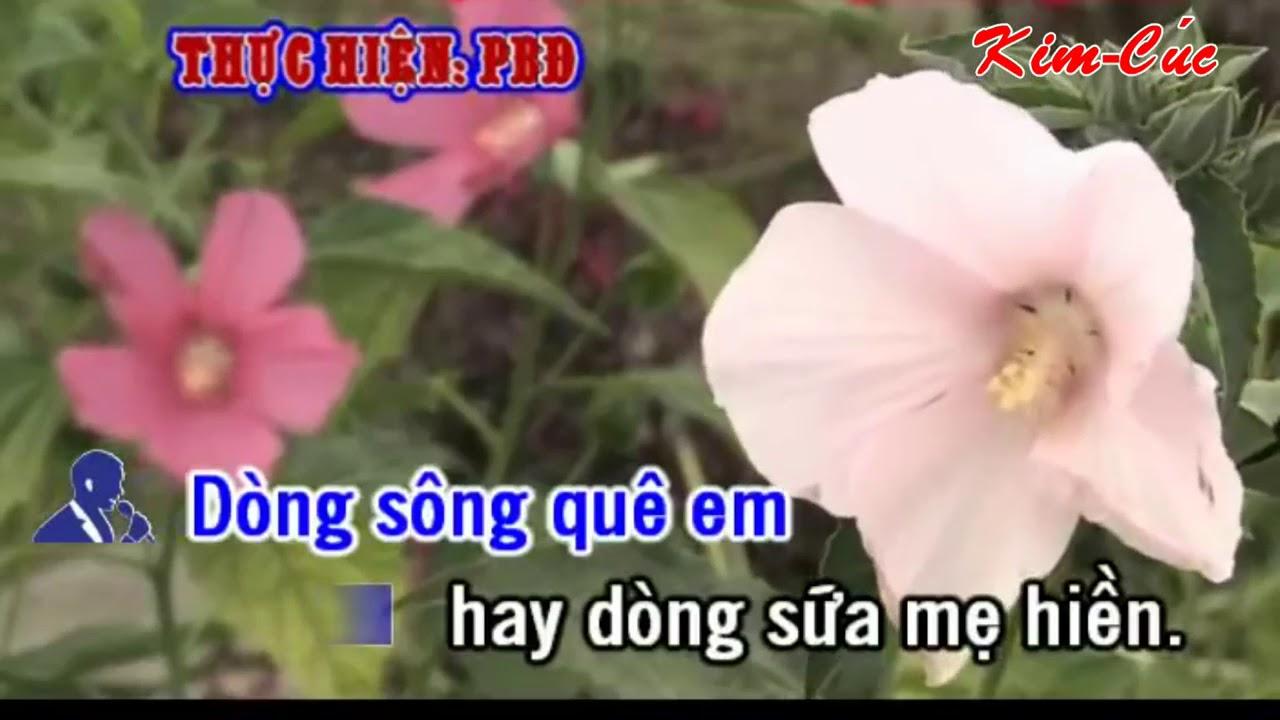 Karaoke Vọng Cổ Dòng sông Quê Em _ Song ca với Kim Cúc