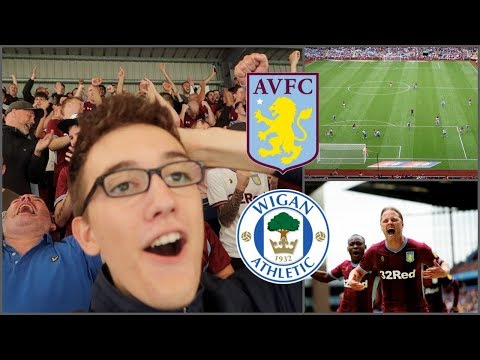 ASTON VILLA 3-2 WIGAN ATHLETIC | 11/8/18 | INJURY TIME WINNER *VLOG*