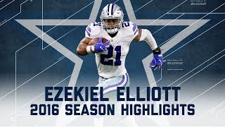 Ezekiel Elliott's Best Highlights from the 2016 Season | NFL