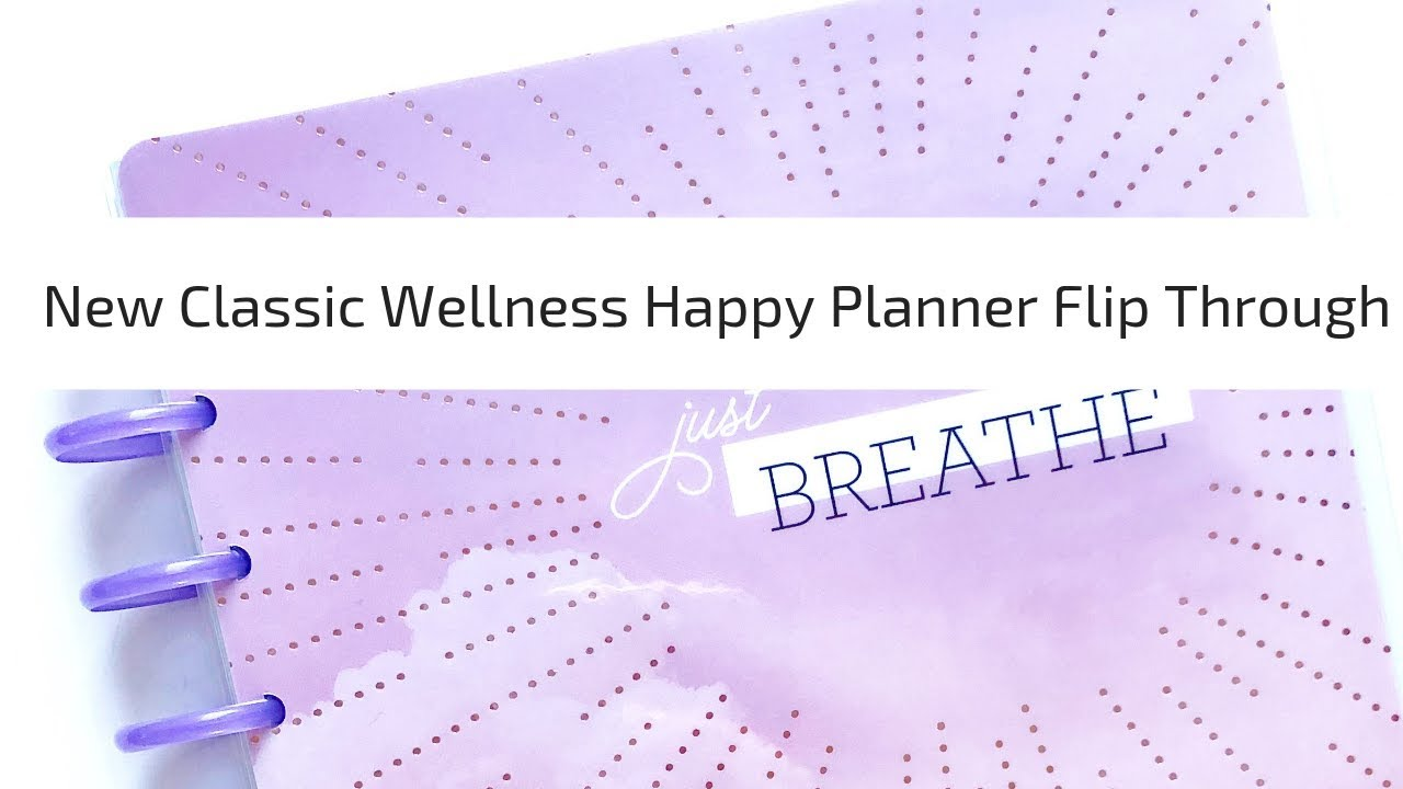 New Happy Planner 2019-2020 Classic Wellness Planner Flip Through