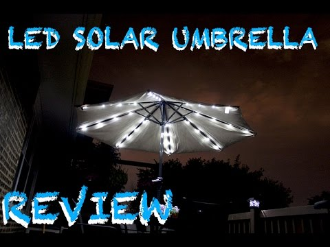 Solar Powered Led Umbrella Review Youtube