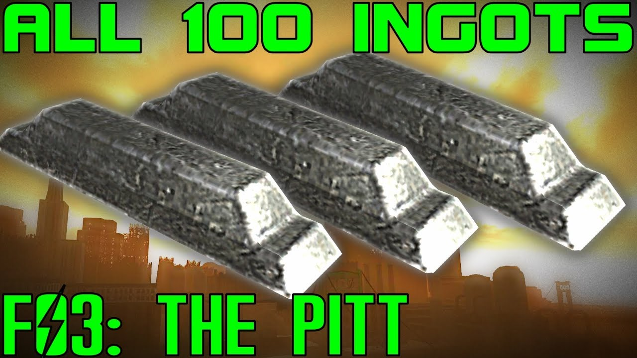Fallout 3: The Pitt - ALL 100 Steel Ingots Guide (DLC) on