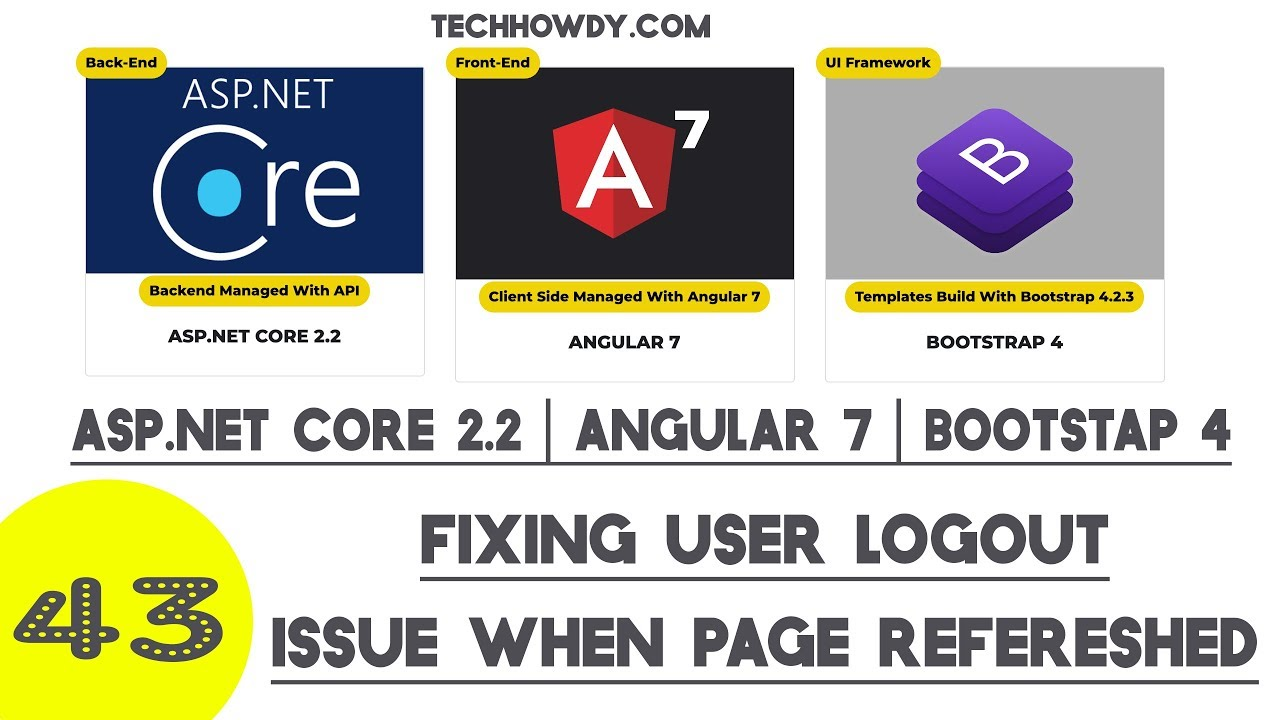Fixing Logout Issue When Page Refreshed - Angular 7 | Asp Net Core