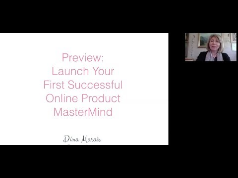 Preview Launch Your First Successful Online Product Mastermind