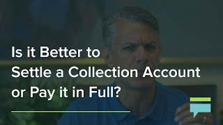 Settling debt with collection agency