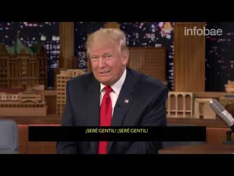 Donald Trump se dejó despeinar por Jimmy Fallon en The Tonight Show